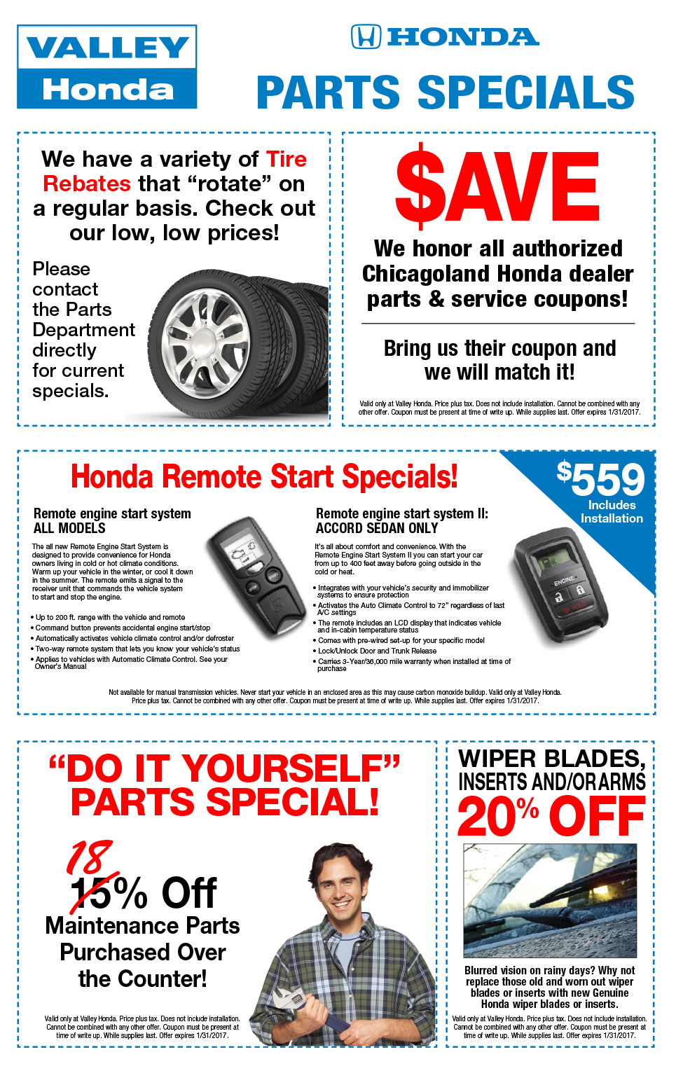 Certified Pre Owned Honda >> Auto Part Specials Coupons - Honda CRV, Odyssey, Accord ...