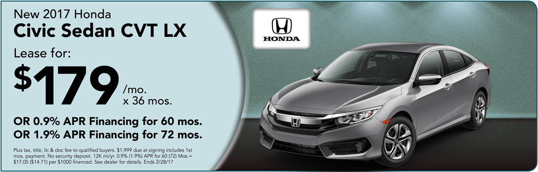 2017 Civic Sedan For Sale