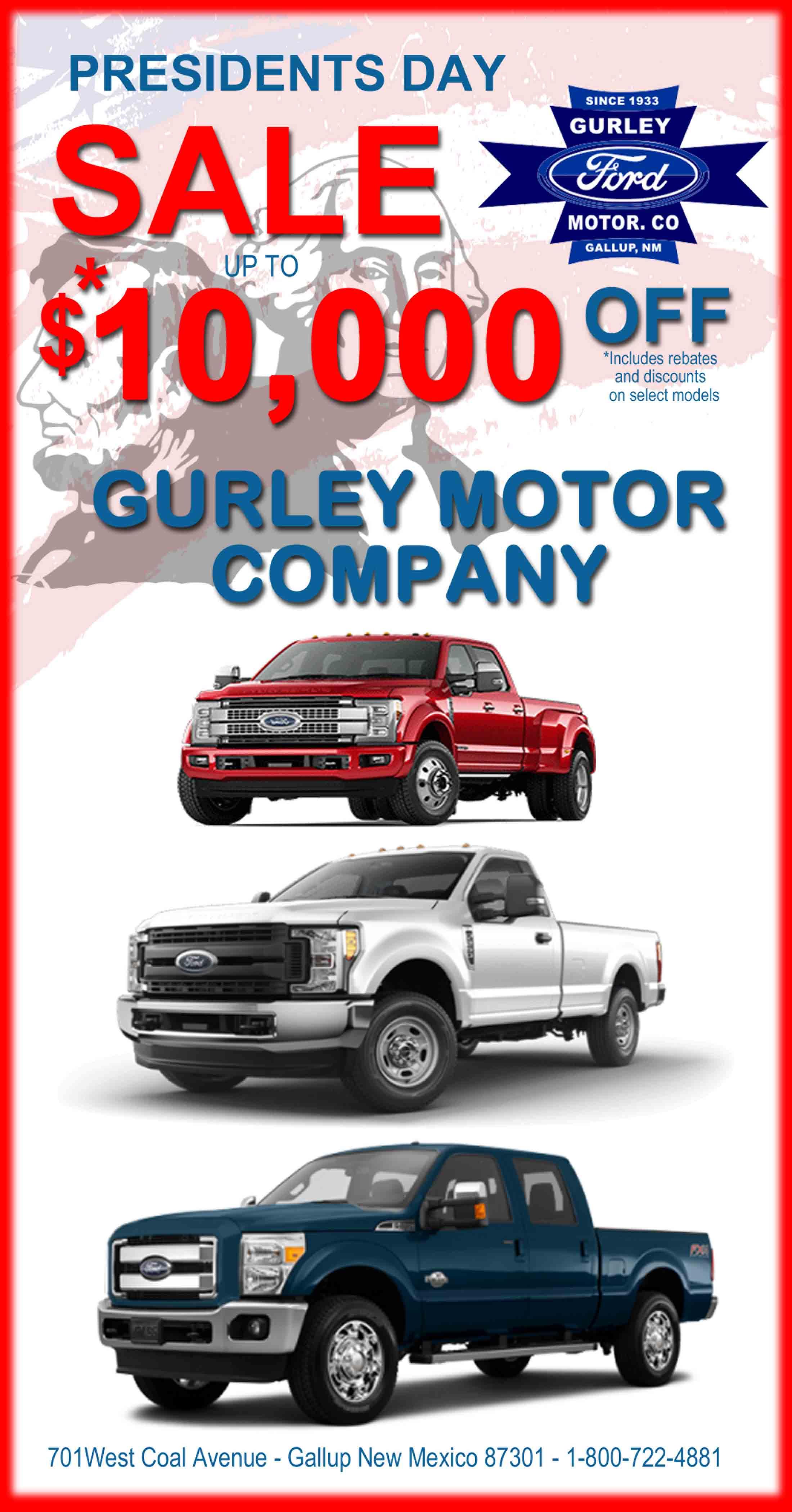 2017 gurley motor co president 39 s day sale Gurley motor