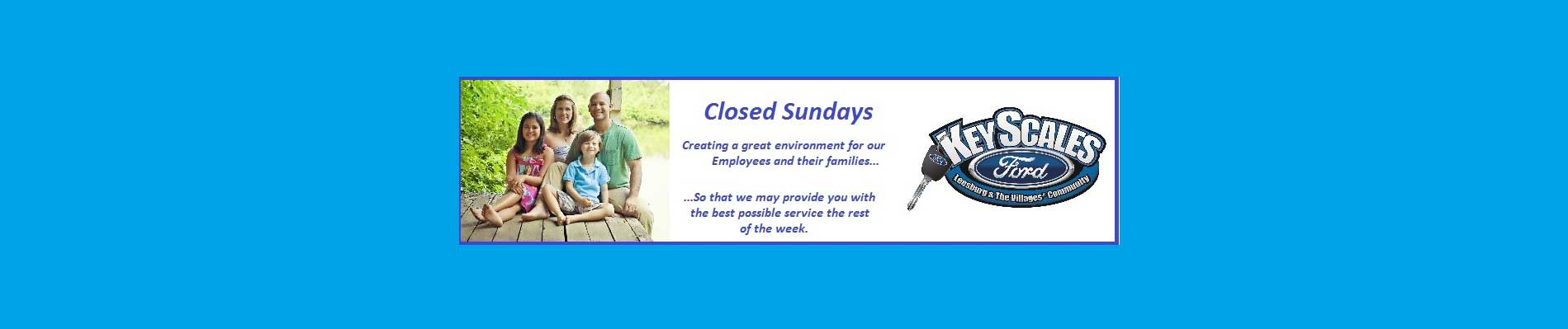 CLOSED SUNDAY BANNER
