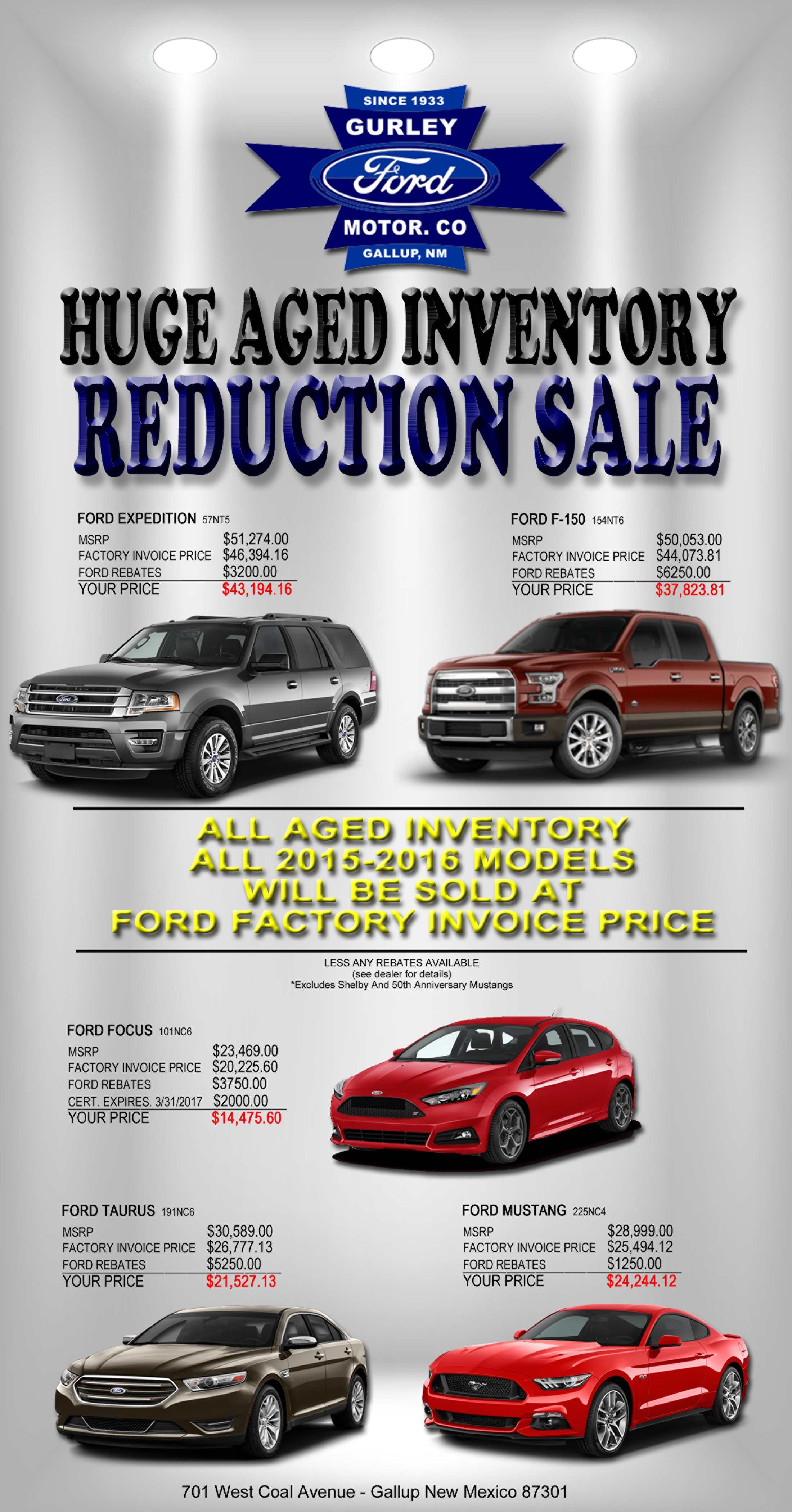Ford Blow Out Sale