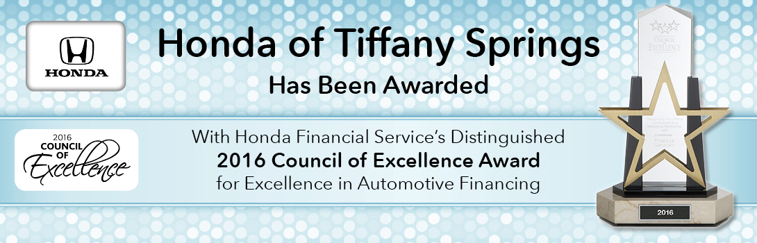 Honda Of Tiffany Springs Council of Excellence