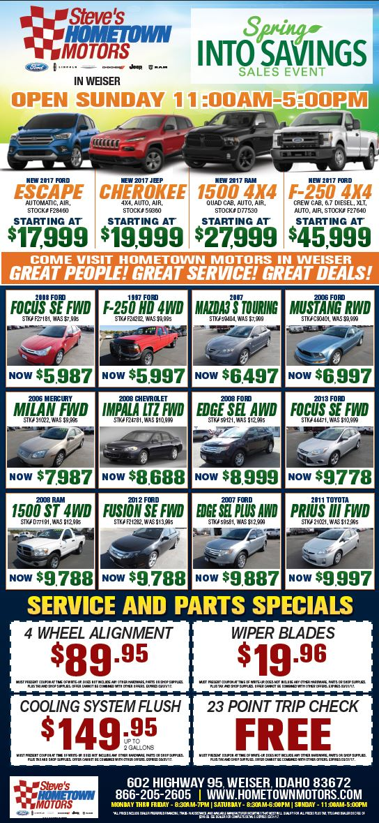 March Ads Hometown Motors