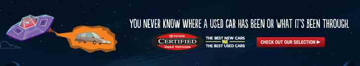 TCUV - Toyota Certified Used Vehicles - You Never Know