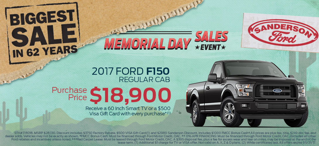 SandersonFord-BiggestSale-1090x500-17F150RC