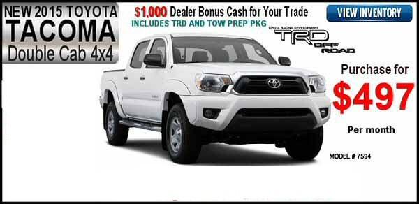 New 2015 Toyota Tacoma Double Cab Vann York Toyota Serving High Point, Greensboro, & Winston-Salem