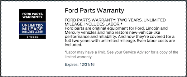 Auto Service Specials Coupons Ford Mustang F 150