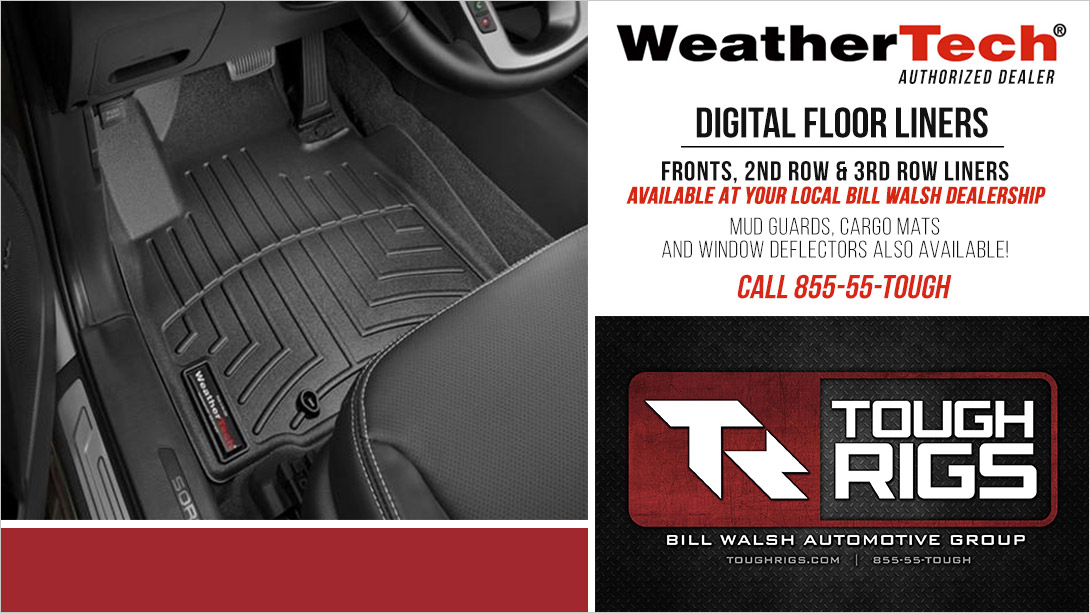 Bill Walsh WeatherTech Accessories Available