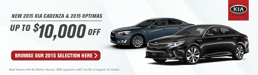 $10,000 Off Kia Cadenza and Optimas