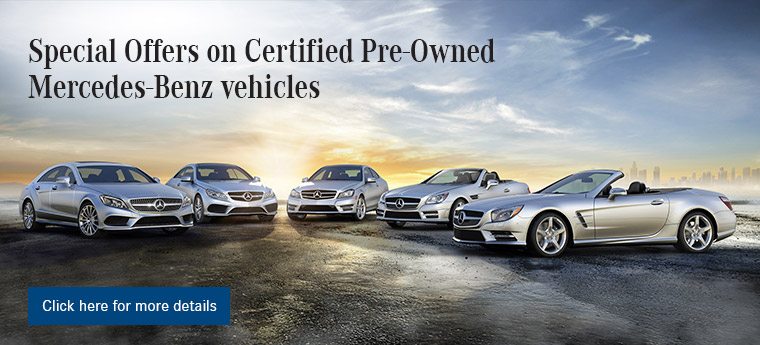Specials Offers on Certified Pre-Owned Mercedes-Benz vehicles at Mercedes-Benz of Fort Wayne