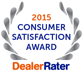 2015 Consumer Satisfaction Award Dealer Rater