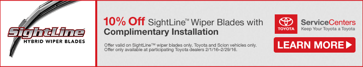 February SightLine Wiper Blades