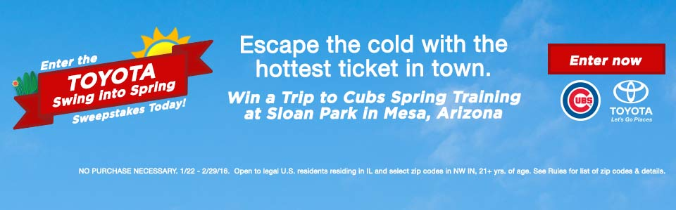 Cubs Spring Sweepstakes