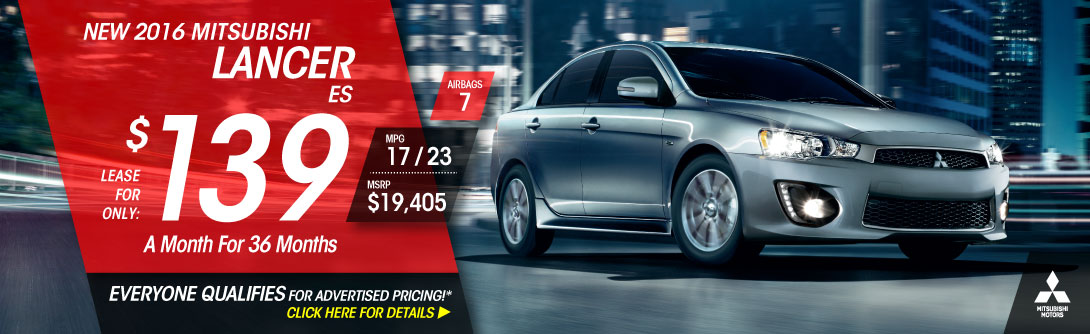 Lease a 2016 Lancer ES for only $139/mo