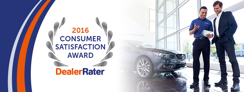 Thanks for helping us Earn DealerRater's 2016 Consumer Satisfaction Award!