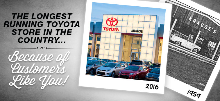 Krause Toyota - The Longest Running Toyota Store in the United States - Opened in 1959