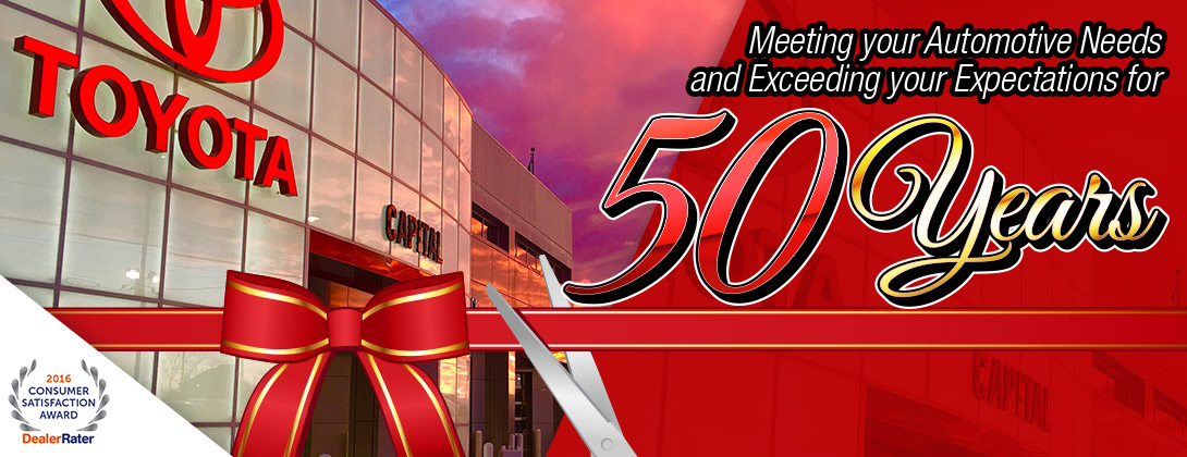 Capital Toyota - Meeting Your Automotive Needs and Exceeding Your Expectations for 50 Years in Chattanooga, TN
