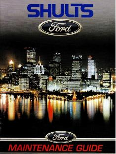 Shults Ford Maintenance Guide