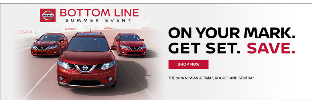 Nissan Bottom Line Sales Event 2016 banner 1