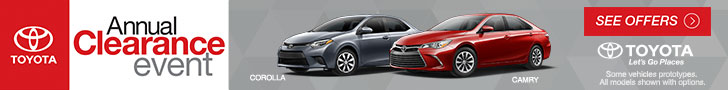 Annual Clearance Event Camry Corolla