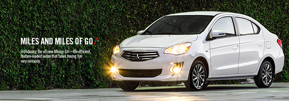 Find out how fuel-efficient your next ride can be! Test drive the new Mitsubishi Mirage G4 today!