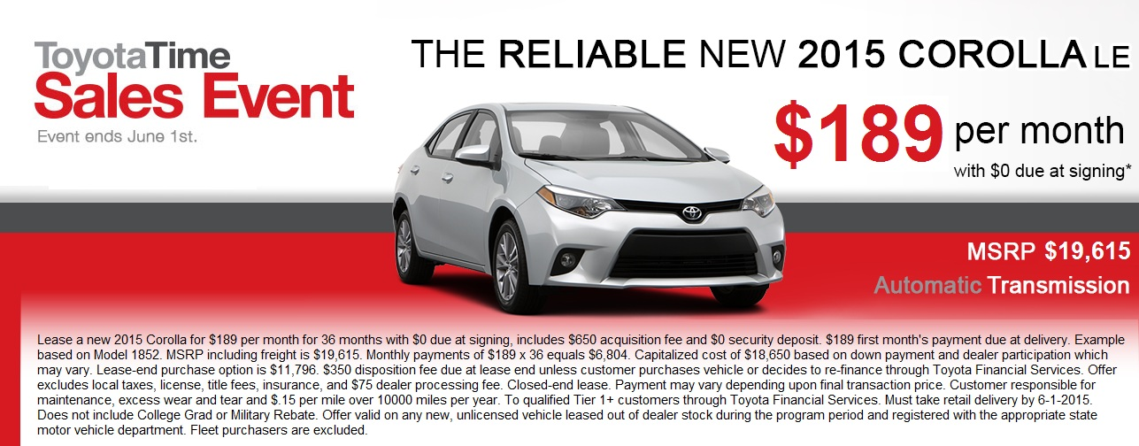 Corolla ToyotaTime May 2015