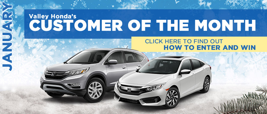 Valley Honda January Customer of the Month