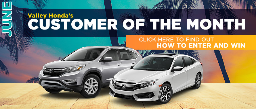 Valley Honda - Customer of the Month-June