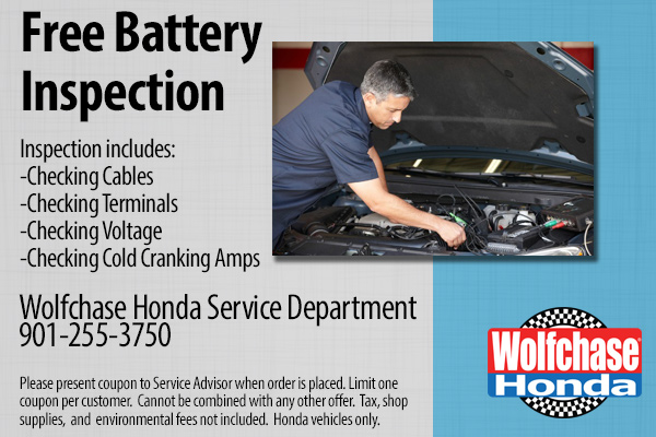 Honda Free Battery Inspection