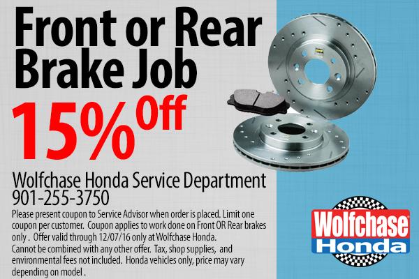 Used car inventory wolfchase honda memphis tn vehicles for Honda brake service coupons