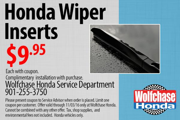 Auto Part Specials Coupons - Honda Civic, Accord, Pilot - Wolfchase Honda - Bartlett, TN ...