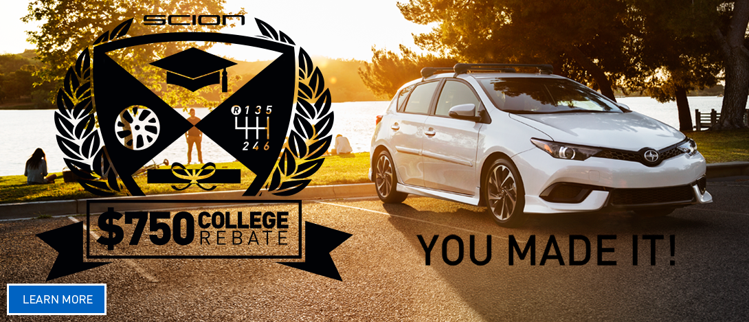 Scion College Rebate Offers