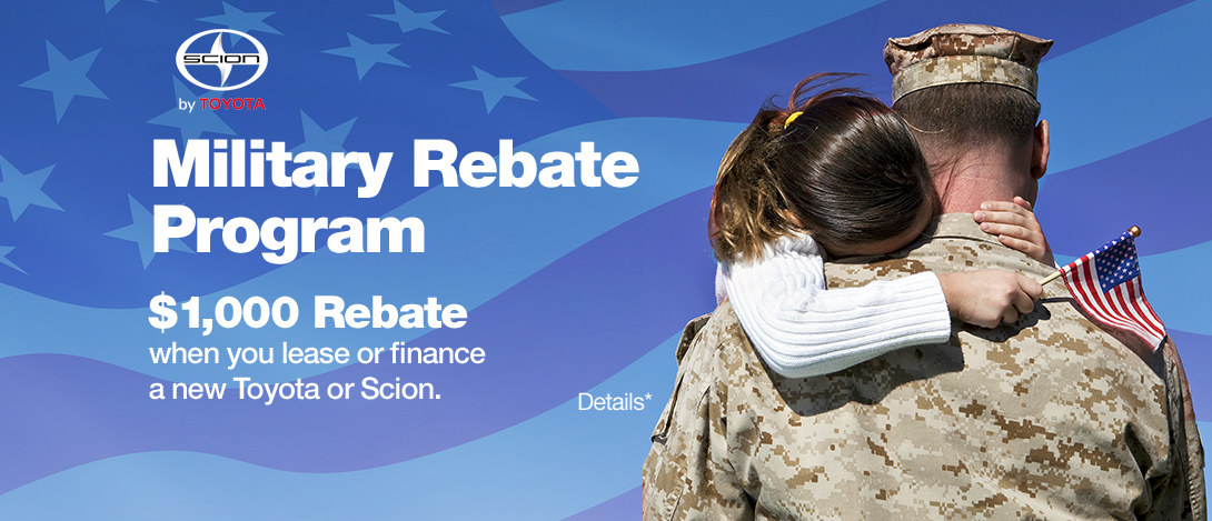 Scion Military Rebate Offers