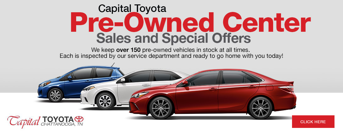 Capital Toyota's Pre-Owned Center Sales and Special Offers
