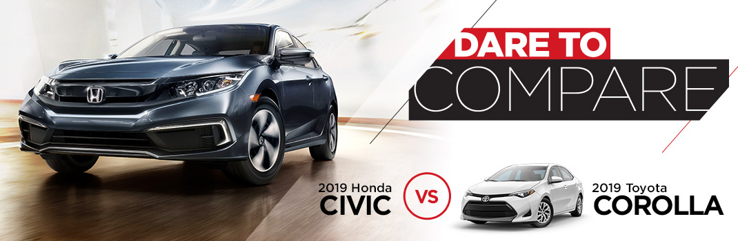 2019 Honda Civic vs. Toyota Corolla | Homosassa, FL