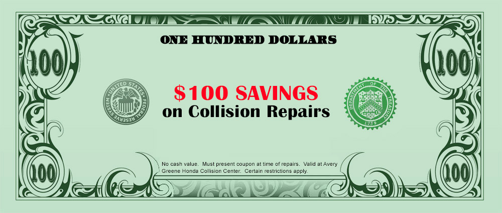 100 Savings Collision Special