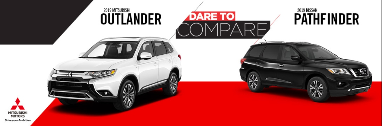 2019 Mitsubishi Outlander vs Nissan Pathfinder | Hollywood, MD