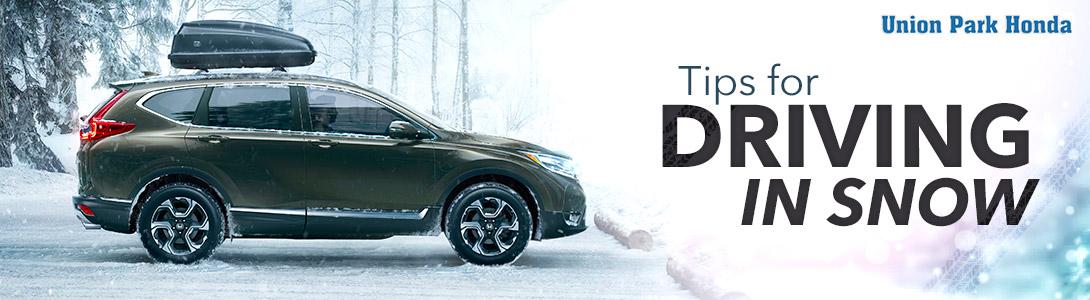 Tips for Driving in Snow   Union Park Honda   Wilmington, DE