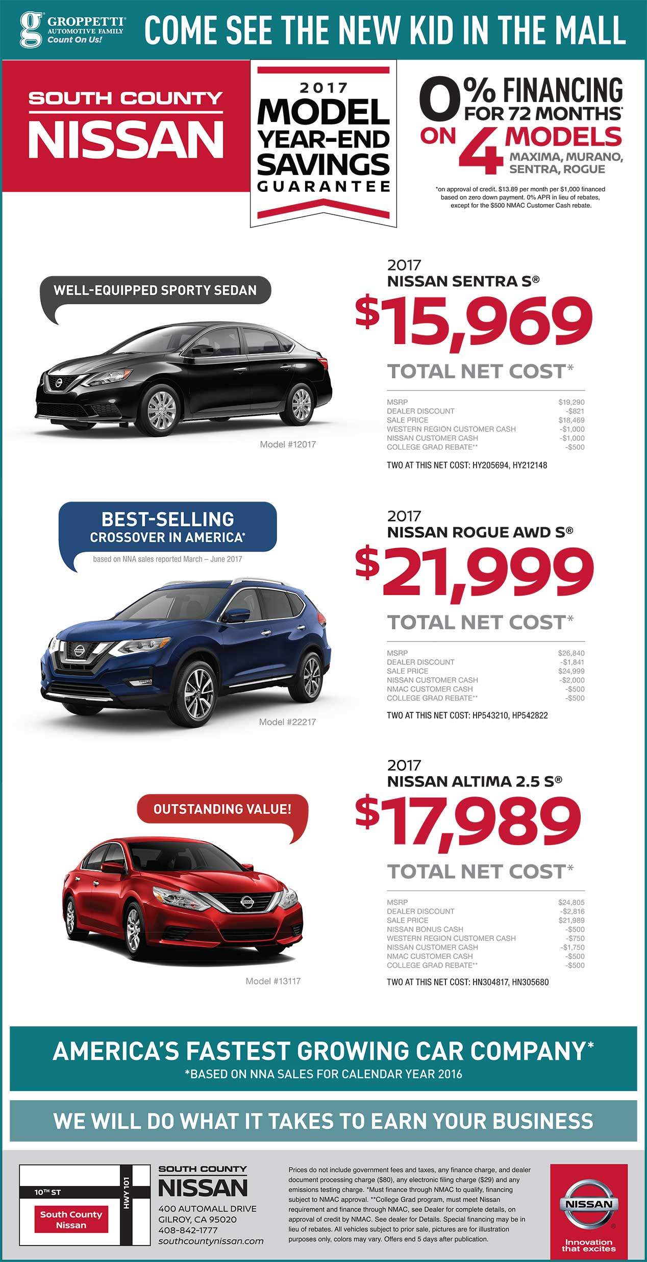 New Nissan Deals South County Nissan Gilroy CA