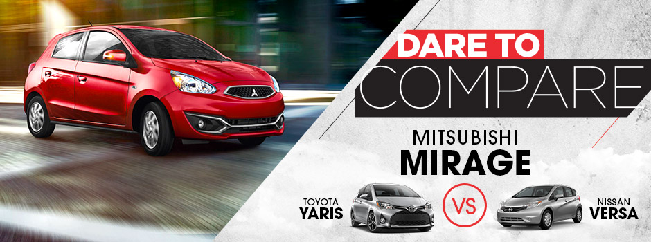 Dare to Compare Mitsubishi Mirage | St. Cloud, MN