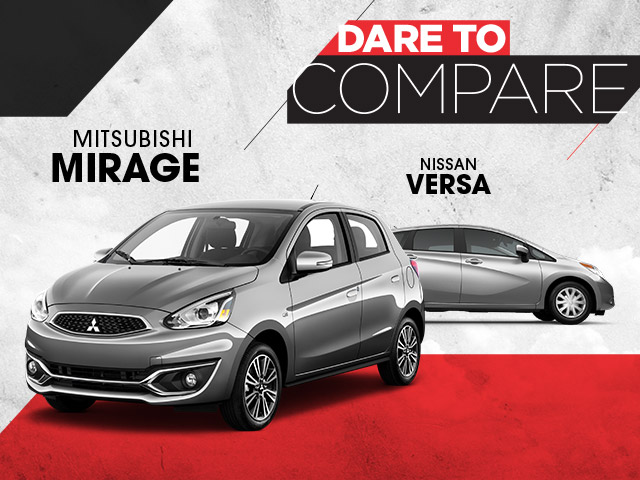 Mitsubishi Mirage vs. Nissan Versa | St. Cloud, MN