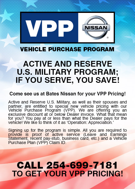 Military Pricing VPP Bates Nissan Killeen Texas - What is dealer invoice for service business