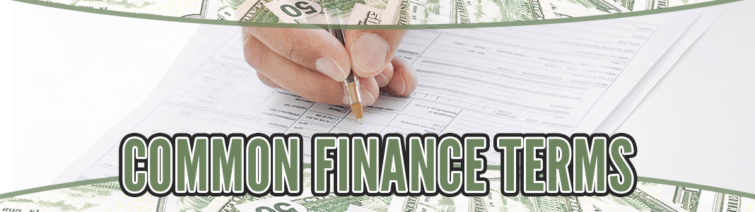Common Finance Terms
