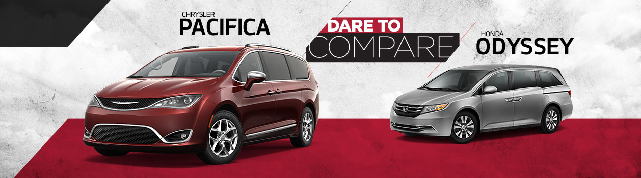 Dare To Compare 2017 Chrysler Pacifica Vs Honda Odyssey At Rothrock Motors