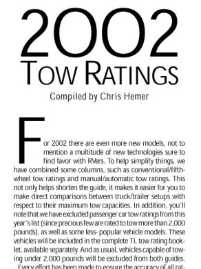 2002 Trailer Life Towing Guide