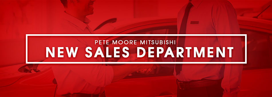 New Sales Department at Pete Moore Mitsubishi in Pensacola, FL
