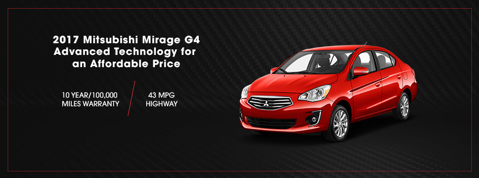 2017 Mitsubishi Mirage G4 | Efficiency | Don Robinson Mitsubishi | Saint Cloud, MN