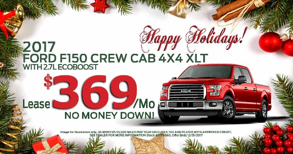 august specials F150 lease for 359 a month no money down