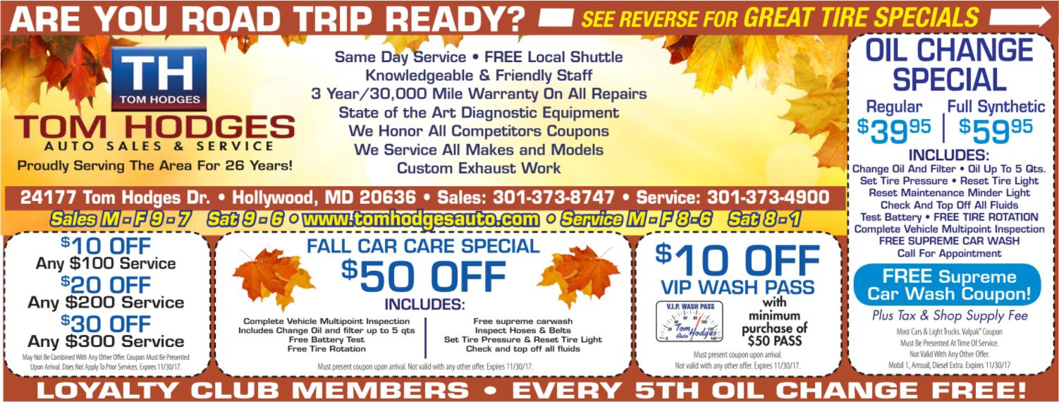 service coupon fall 1