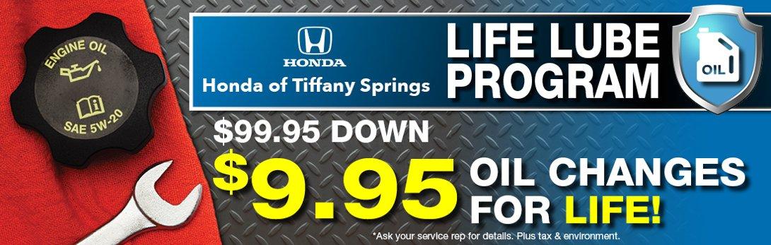 Honda Of Tiffany Spring Life Lube Program